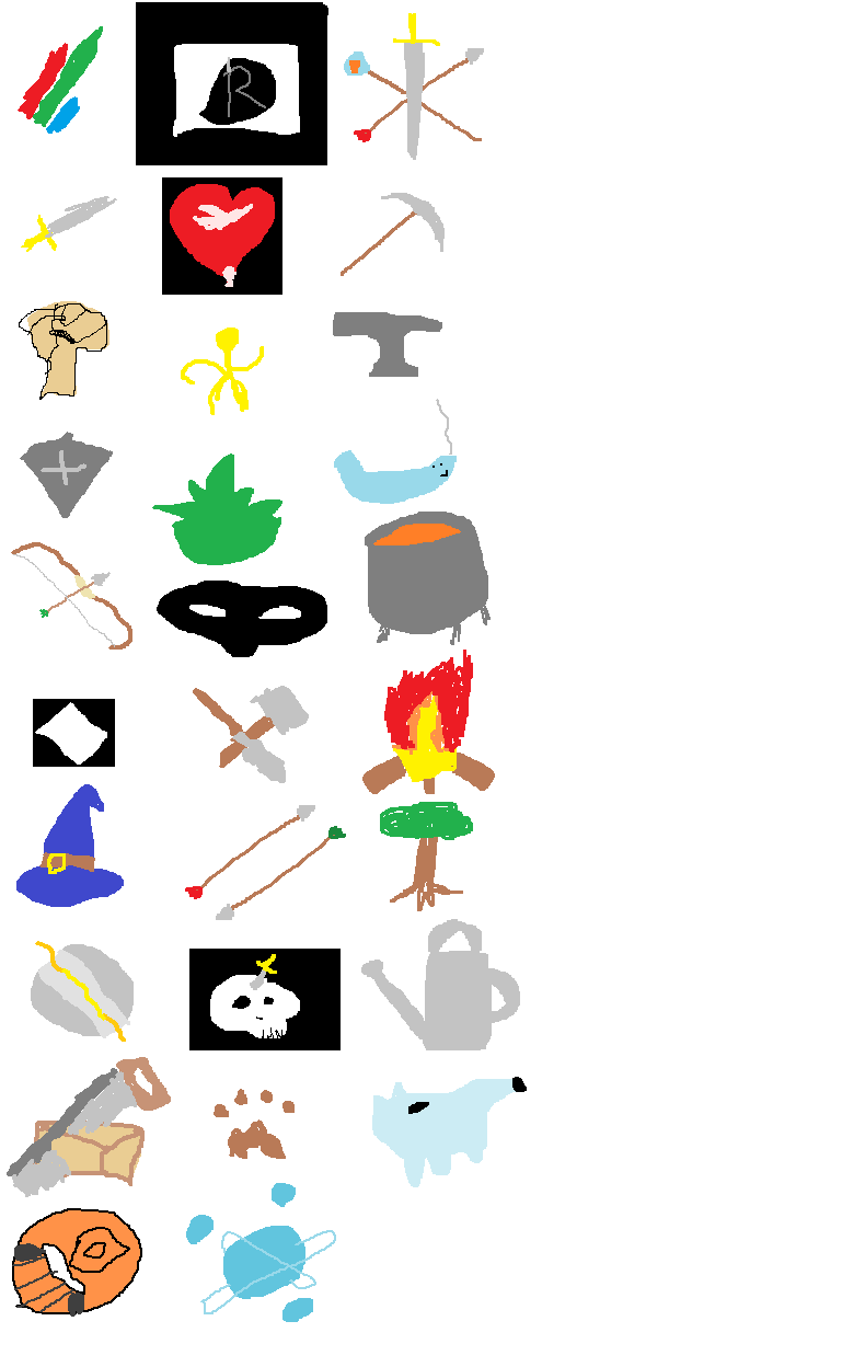 runescape skill icons by toketsumun on deviantart