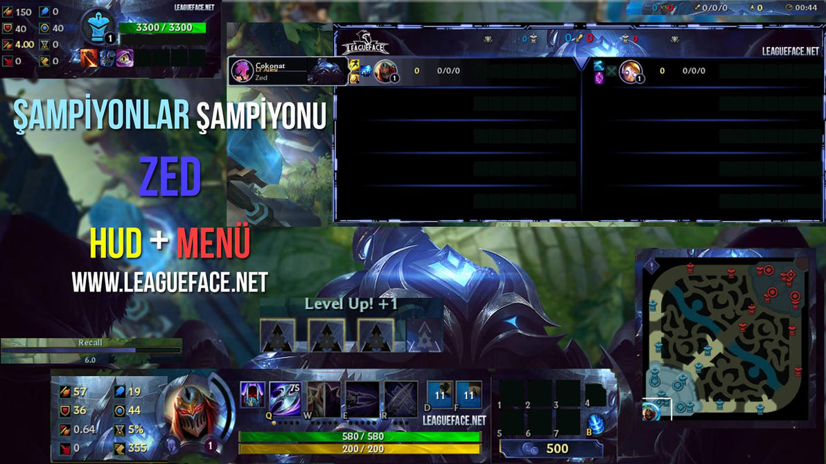 Championship ZED HUD- League of Legends by LeagueFace