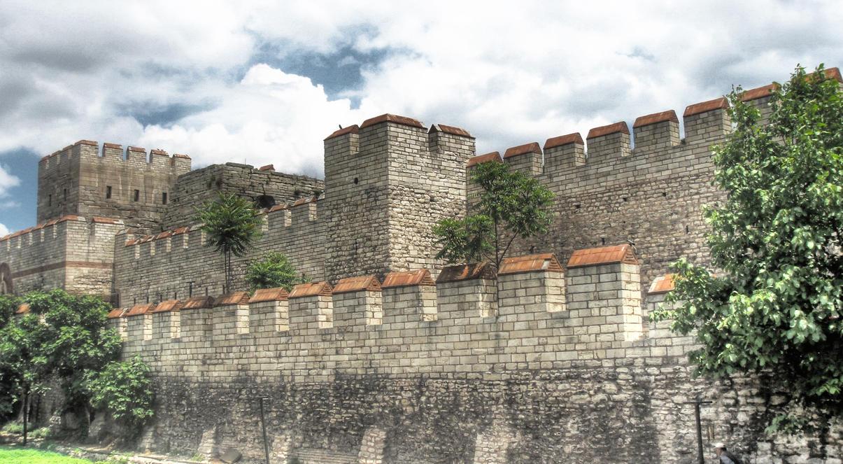 Walls of Istanbul  HDR by evrengunturkun