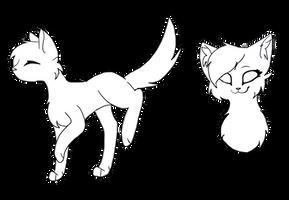 f2u cat base! by SilverFeather-Adopts