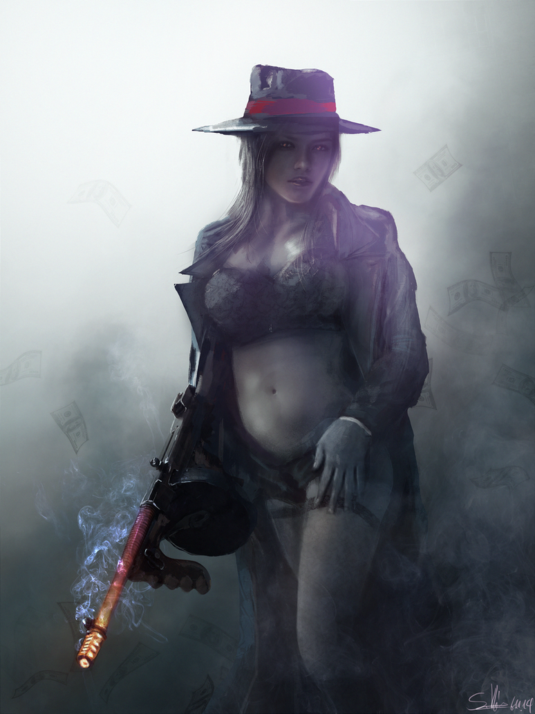 Sexy mafia girl