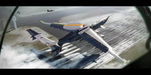 Strategic Airlift Drone: Landing