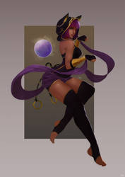 Menat Street Fighter by Sahlea