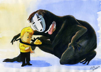Chekov and No-Face by derBudaika