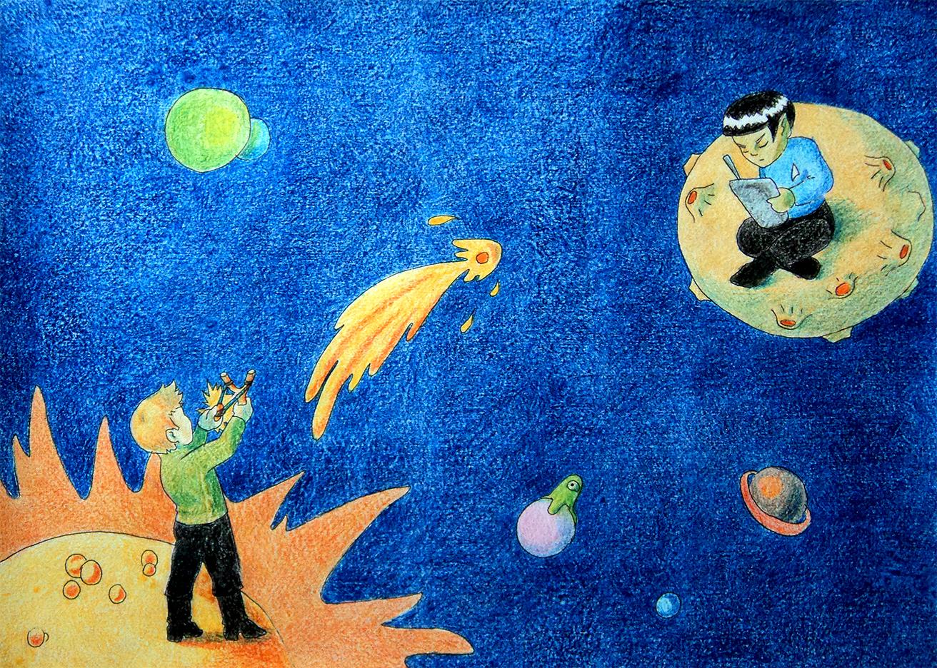 Sun and Mercury by derBudaika