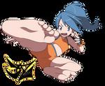 Battle girl bare foot
