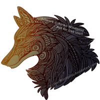 Musterwolf (Zentangle Wolf) by Kiriko-Windgeist