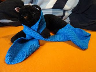 Crochet scarf by Kiriko-Windgeist