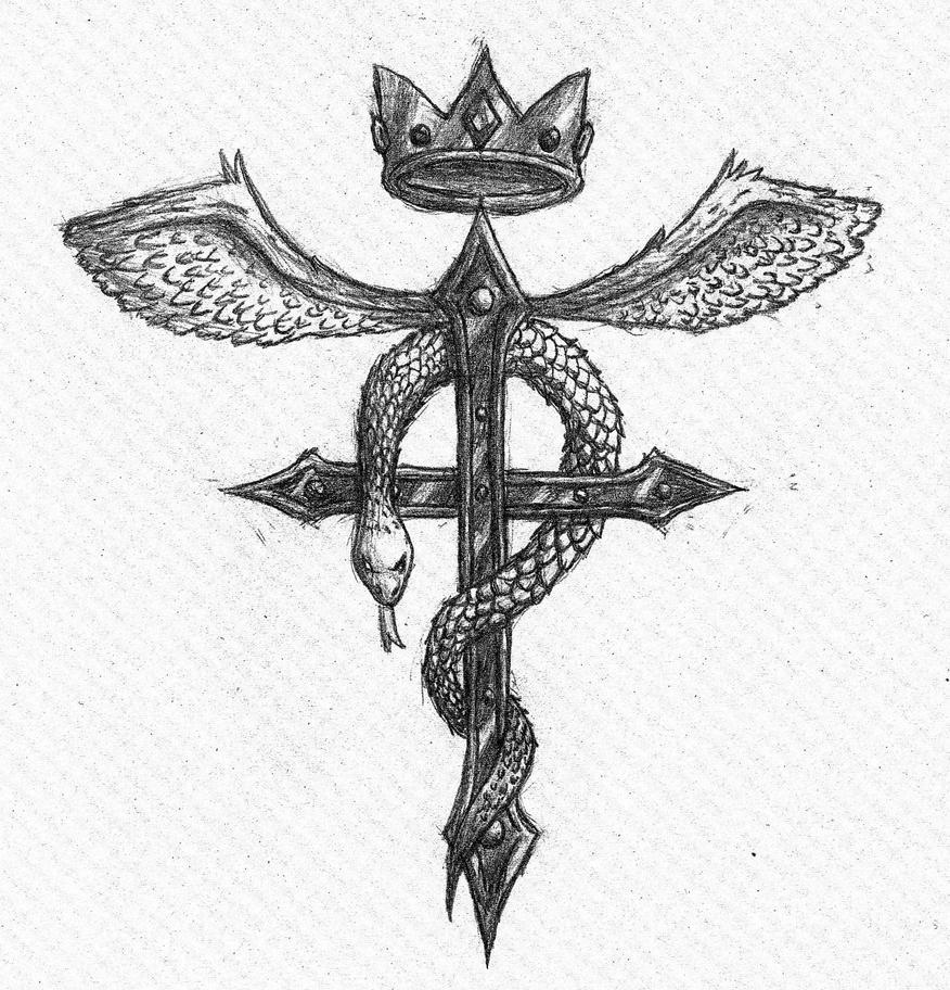 Fullmetal Alchemist Cross Of Flamel By Takeshre