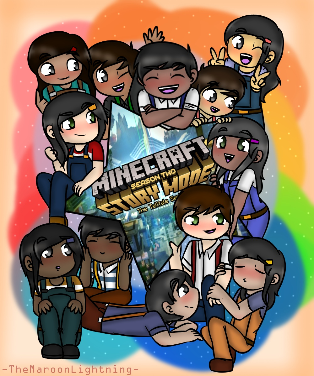Minecraft Story Mode Jesse Siblings By Themaroonlightning On