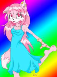 Rainbow Furry by LittleMechaFox