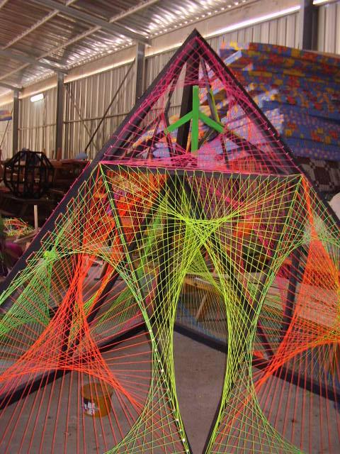peace pyramid_string art by adamalien