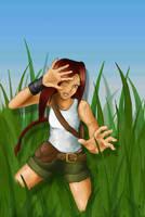 walking through tall grass II by m-e-a-g-z