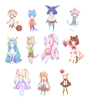 Tiny Pixels Batch 1 - 8.20.15 by Lu-tan