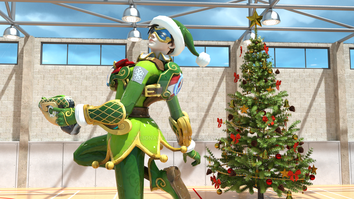 Tracer christmas overwatch by lionalxx on deviantart - Overwatch christmas wallpaper ...
