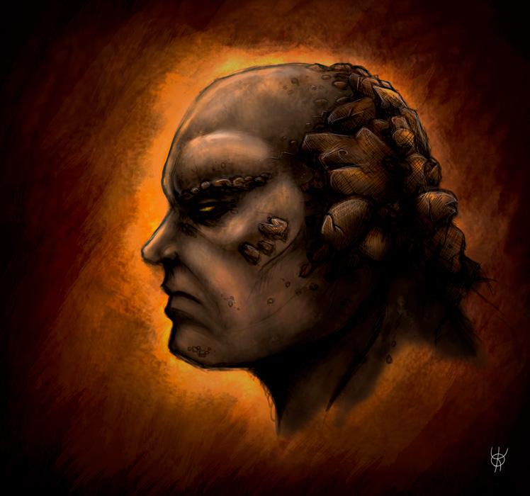 Golem Portrait by K-A-Y-O