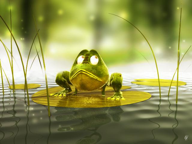 The froggie by K-A-Y-O