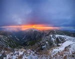 Sunset in Giant Mountains