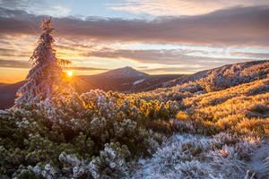 Sunrise in Giant Mountins by Sesjusz