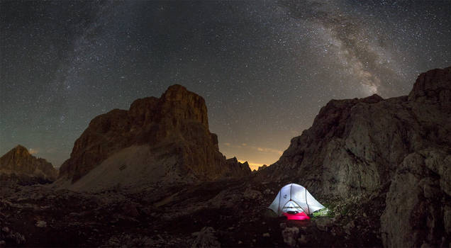 One night in the Dolomites