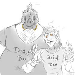 Dad 'n Boi by chenpathART