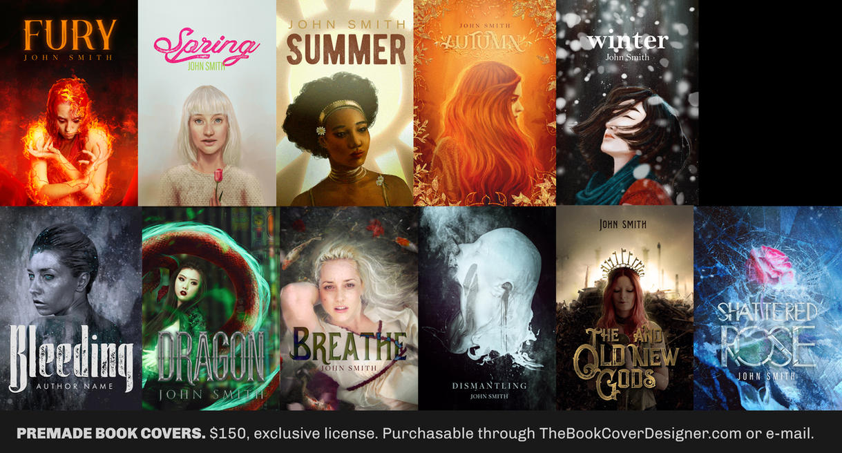 Premade Book Cover Art : Premade book covers ii by gejda on deviantart