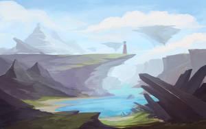 landscape speedpaint #6 by Keponii