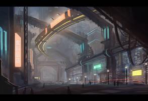 Sci-fi Environmental speedpaint #1 by Keponii