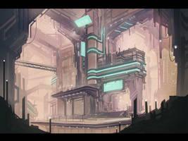 Sci-fi Environmental speedpaint #2 by Keponii