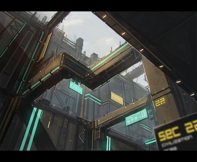 Sci-fi Environmental speedpaint #5