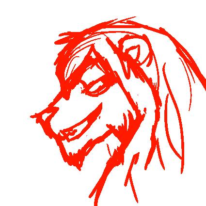 Unfinished Lion Smirk by hiddenwarriors