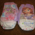 Sofia the First Training Pants Front and Back
