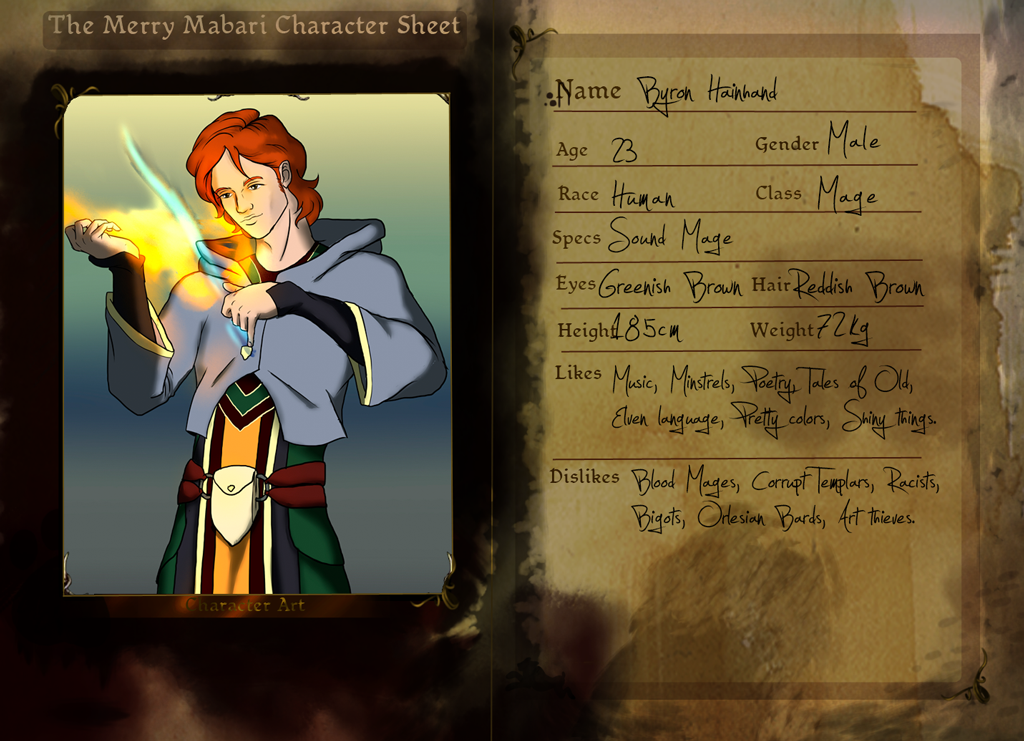 TMM - Byron Character Sheet by Abadir