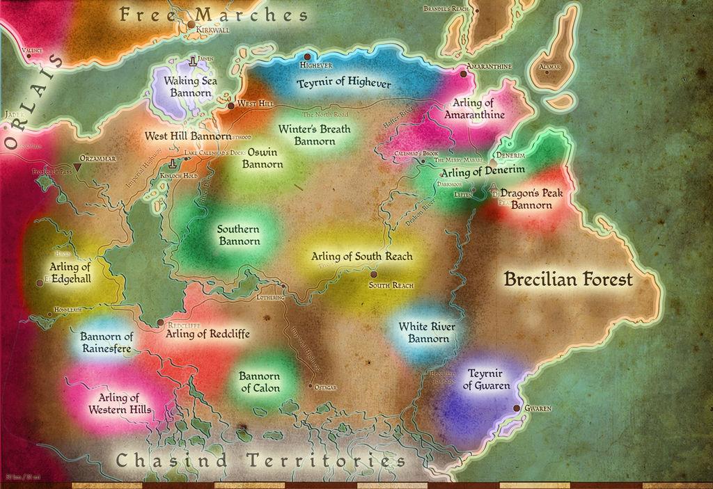 Tmm Political Map Of Ferelden Reference By Abadir On Deviantart