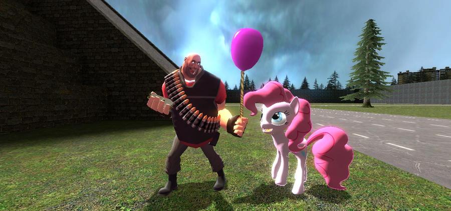 Heavy with Pinkie Pie by sp19047