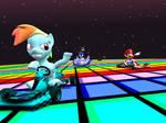 Rainbow Dash on Rainbow Road