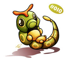 Caterpie by Petradactyl