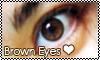 Brown eyes Stamp by GabieGaga91