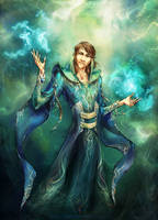 Commission - Mage of Energy by ILLanthan