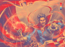 Colour Meme - Dr. Strange by ILLanthan