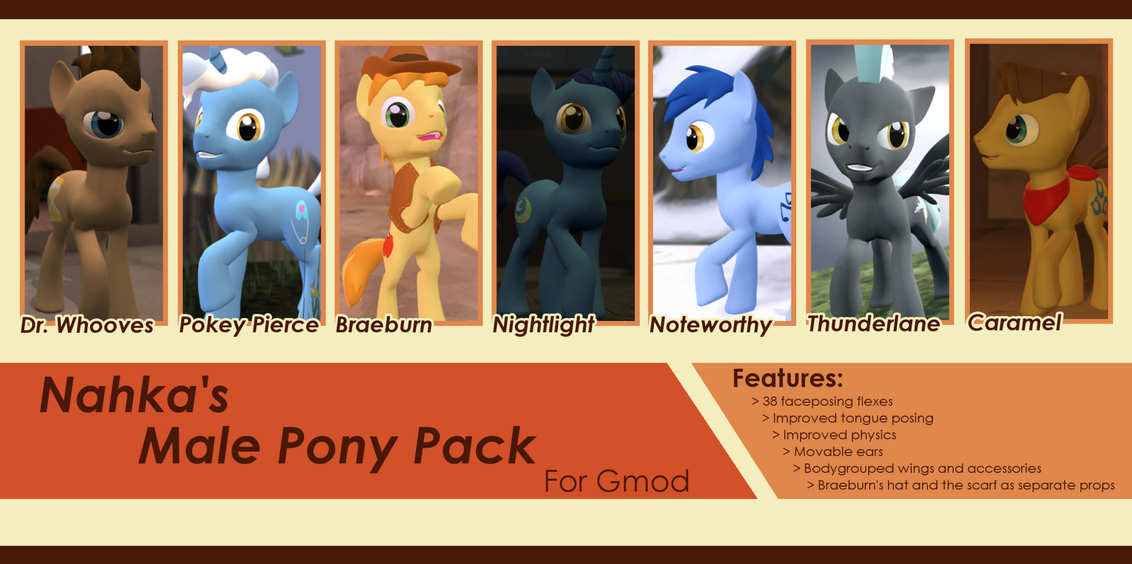 Male pony pack release