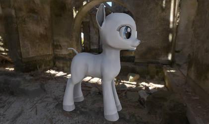 FO:E Female Pony WIP by Poninnahka