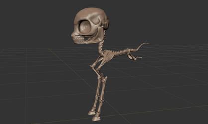 FO:E Skeleton Sculpt WIP