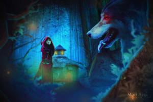 Red Riding Hood  by ThunderMadArts14
