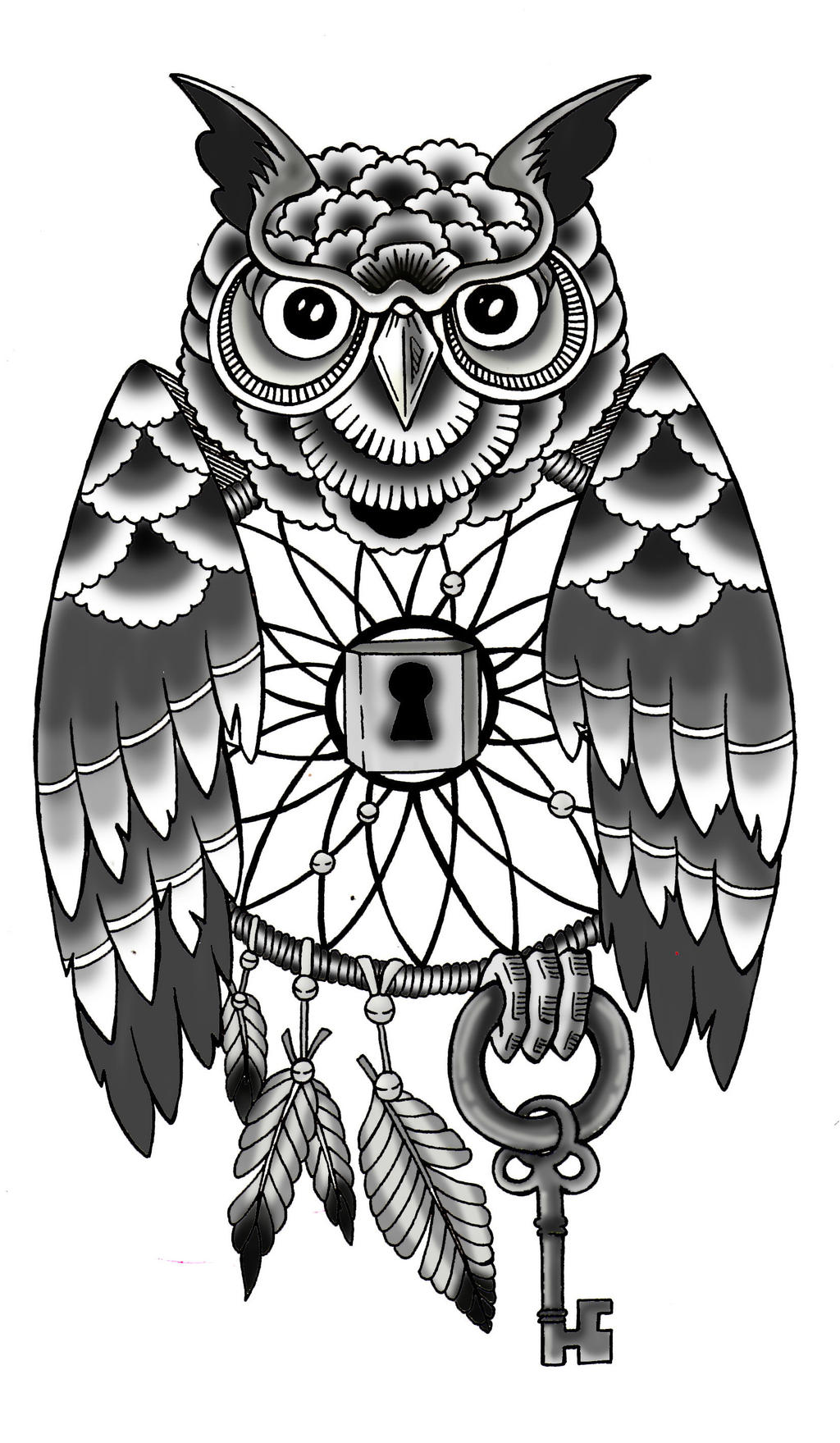 Owl dreamcatcher drawing - photo#25