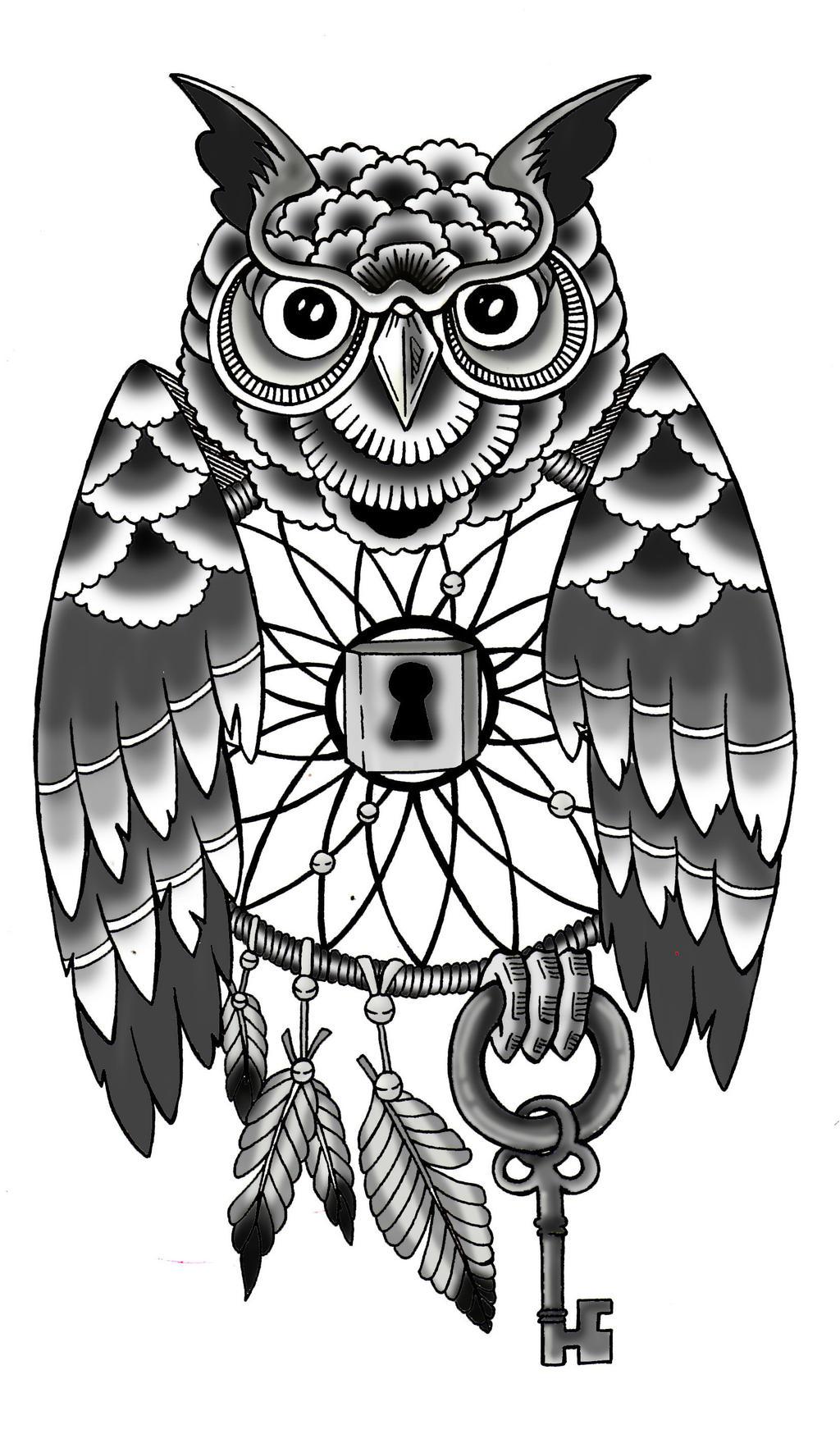 Owl dreamcatcher drawing - photo#25