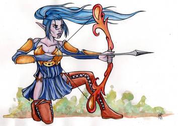 Elf Archer by RaxaMermaid
