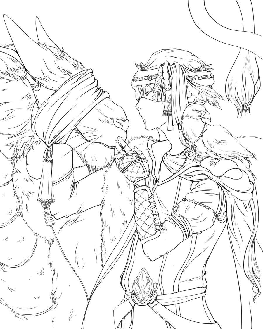 tiger coloring pages realistic dragons   Lineart - I breed Tiger-dragons by Kuru-da-Bunbun on ...