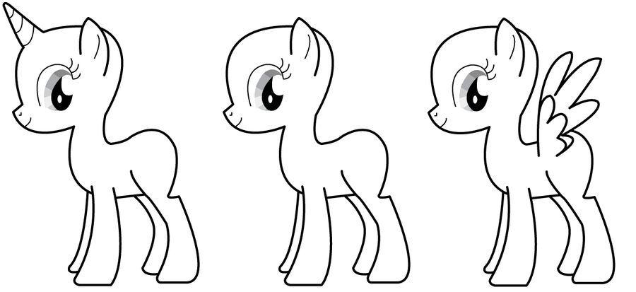 base pony sheet for drawing by verolesh on DeviantArt