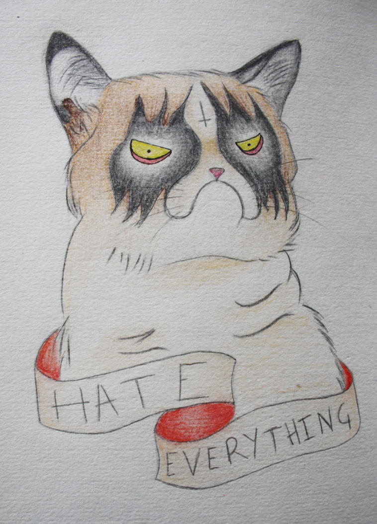 Grumpy Cat Tattoo by MissBillK
